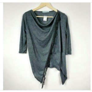 NWT Maurices Women's Gray Poncho Style Top XS